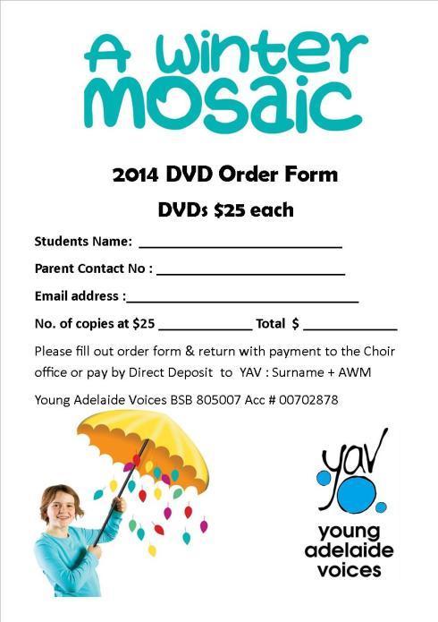 AWM DVD order form